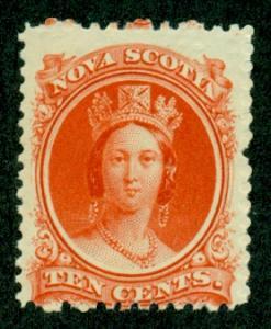 Nova Scotia #12  Mint AVG NH  Scott $18.00