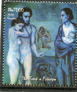 Sao Tome & Principe 2005 Picasso BLUE PERIOD PAINTINGS set Perforated Mint (NH