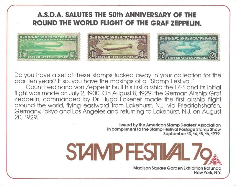 The 50th Anniversary Of The Graf Zeppelin. Stamp Festival 79. Card.  #02 SF79