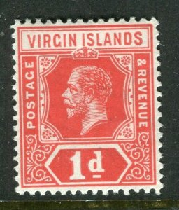 BRITISH VIRGIN ISL; 1912 early GV issue fine Mint hinged 1d. value