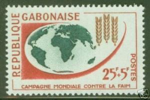 GABON Scott B5 MNH** Freedom from Hunger Issue