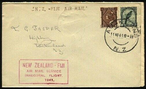 NEW ZEALAND 1941 first flight cover Auckland - Fiji........................96431
