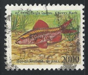 Sri Lanka #980 20r Fish - Cherry Barb