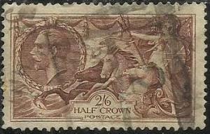 GREAT BRITAIN GRAN BRETAGNA 1913 1918 BRITANNIA RULE THE WAVES 2/6 SEA HORSES...
