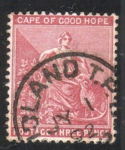 CAPE OF GOOD HOPE 1892 3d MIDLAND TPO  railway cds.........................51975