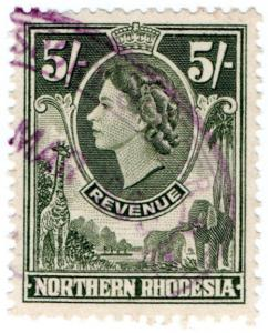 (I.B) Northern Rhodesia Revenue : Duty Stamp 5/-