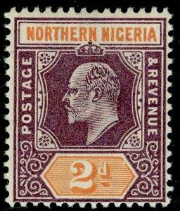 NORTHERN NIGERIA SG12, 2d dull purple & yellow, LH MINT. WMK CA