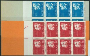 91446 - SWEDEN - STAMPS:set of 2 Booklets Mi # 542/3   1965  Nobel Prizewinners