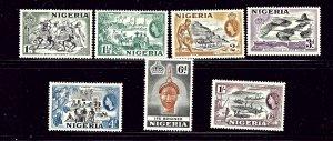 Nigeria 81-87 MNH 1953 part set