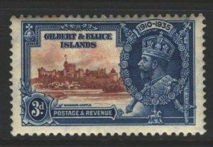 Gilbert and Ellice Islands Sc#35 MH - tan gum, few spots