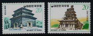 Korea 1121-2 MNH Temples, Architecture