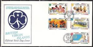 Virgin Is., Scott cat. 842-846. Girl Scouts issue. First day cover. ^