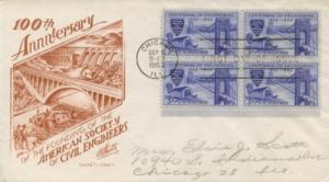 1952 Centenary of Engineering (Scott 1012) CC Staehle FDC