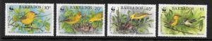 Barbados  Scott #795-798  Mint H  Scott Cv $14.00