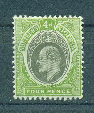Southern Nigeria sc# 25 mh cat value $16.00