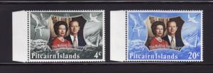 Pitcairn Islands 127-128 Set MNH Elizabeth II Silver Wedding