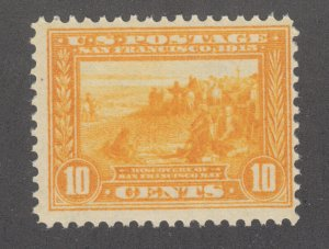 US Sc 400 MNH. 1913 10c orange yellow San Francisco Bay, Perf 12, fresh, F+