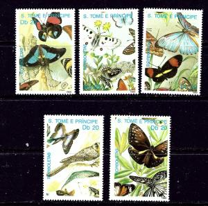 St Thomas 898-902 MNH 1989 Butterflies