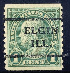Elgin IL, 597-41 Bureau Precancel, 1¢ coil Franklin
