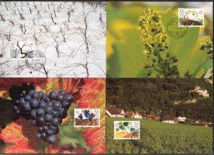 Liechtenstein 1994 4 Seasons 4 Maxi Cards FDC