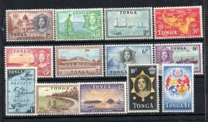 Tonga QEII 1953 mint LHM set to £1 #101-114 WS13433