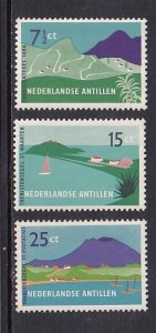 Netherlands Antilles  #237-239   MH  1957  tourism