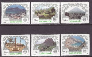 Cape Verde (1987) #506, 507, 508, 509, 510, 512 all MNH