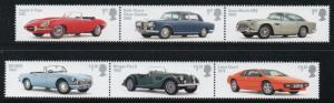 Great Britain Sc 3212-17 2013 Famous British Autos stamp set mint NH