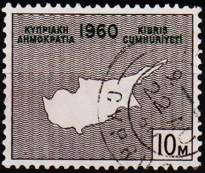 Cyprus.1960 10m S.G.203 Fine Used