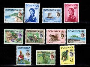 DOMINICA Scott 164-174 MH* short set 11/17