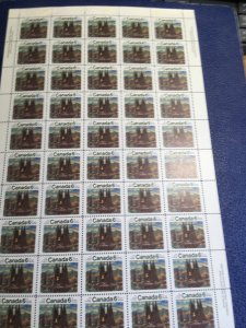 Canada USC  #516 & 516i 1970 6c Group of Seven Imprint Sheet of 50 Fire in Bush