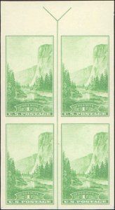 United States #766, Complete Set, Margin Block of 4, Arrow at Top, 1935, Mint...