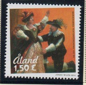 Aland Sc 353 2014 Mariehamm Theatre Society Anniversary stamp  mint NH