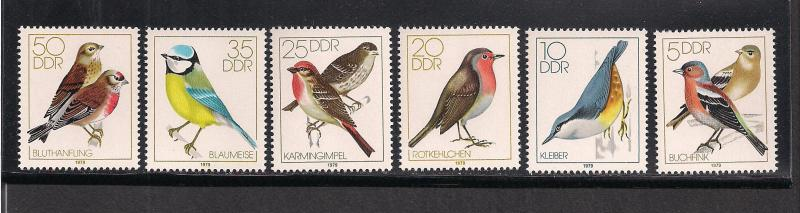 GERMANY - DDR SC# 1976-81 F-VF MNH 1979
