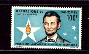 Dahomey C29 MNH 1965 Abraham Lincoln