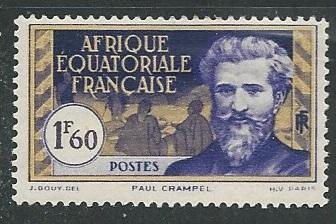 French Equatorial Africa  + Scott # 62 - MH