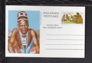 Transki Threshing Sorghum Postal Card Unused