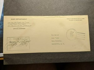 APO 834 QUARRY HEIGHTS, CANAL ZONE 1945 Official WWII Army 6th Air Force Cover