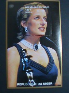NIGER STAMP 1997 PRINCESS OF WALES-LADY DIANA-REMEMBER ALWAYS-MNH S/S EST-$4