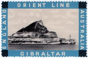 (I.B) Australia Cinderella : Orient Line (Gibraltar)