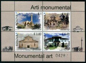 HERRICKSTAMP NEW ISSUES KOSOVO Sc.# 352 Religious Monuments S/S