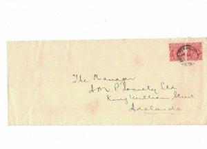 APH1499) Australia 2d Red KGV Die I Long Cover wmk Inverted