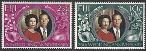Fiji #328-329 MNH Full Set of 2 QEII Silver Wedding
