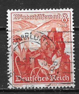 Germany B127 8pf Views single Used (z3)