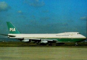 Boeing 747 Pakistan International Paris Orly Aviation Postcard 13711