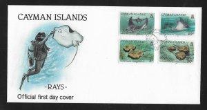 RAYS - CAYMAN ISLANDS #662-5  FDC