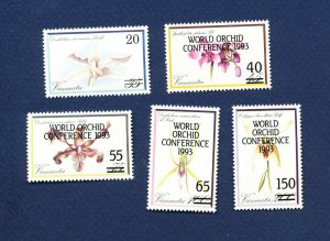 VANUATU - Scott 586-589 - FVF MNH - Orchids, Flowers - 1993