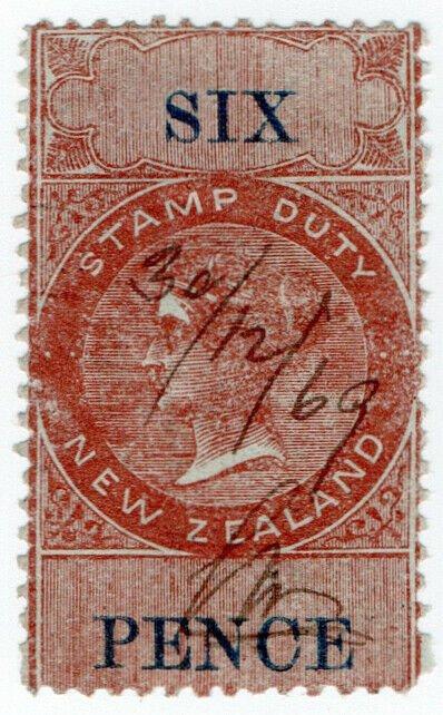 (I.B) New Zealand Revenue : Stamp Duty 6d