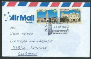 AUSTRALIA 1993 cover to Germany - nice franking - Sydney pictorial pmk.....12828