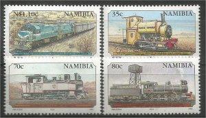 NAMIBIA, 1995, MNH, Complete set, Trains Scott 774-777